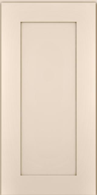 The Middle Portion Of The Door, In Between The Rails And Stiles, Is Flat.  The Rails And Stiles Can Be Flat, Curved, Carved Or Surrounded By Molding.