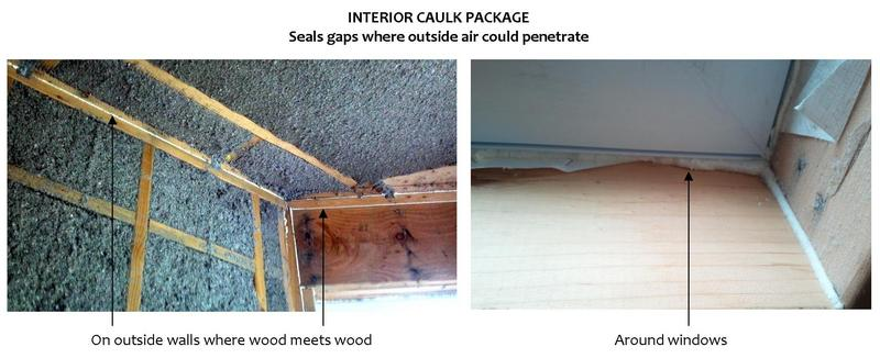 Interior Caulking Option for Energy Efficiency in a new home